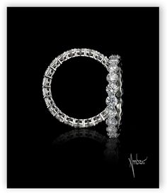 Round diamond Eternity Band by Bez Ambar.