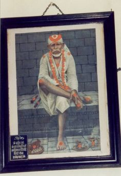 The History of this Baba's Picture Sri Sai Baba himself gave this Photograph to Purandhare who venerated it and prayed to it daily. Often at times when he was in trouble he would sit in front of this photograph and cry his heart out and Baba would appear immediately and comfort him. Om Sairam