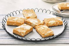 The only thing better than pumpkin-swirl cheesecake? Pumpkin-Swirl Cheesecake in an easy-serve bar form. Our top-rated recipe is a perfect bake and take dessert for all your holiday parties! Kraft Foods, Kraft Recipes, Pumpkin Swirl Cheesecake, Cheesecake Squares, Lemon Cheesecake, Pumpkin Recipes, Fall Recipes, Holiday Recipes, Pumpkin Ideas
