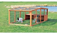 Extra Large Outdoor Wood Rabbit Hutch Exercise Run Kennel Dog Pet Crate Cage