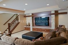 traditional family room by Lifestyle Basements