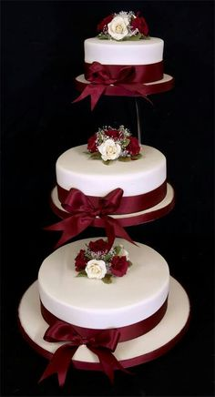 wedding cakes on seperate plate Tier Wedding Cake Stand Stands 3