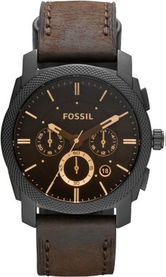 Fossil Men's Casual Machine Dark Brown FS4656