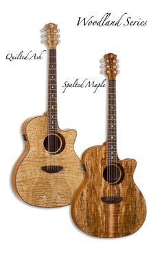 love these guitars :) Archtop Guitar, Acoustic Guitar, Banjo, Ukulele, Luna Guitars, Guitar Building, Beautiful Guitars, Guitar Design, Classical Guitar