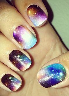 Galaxy Nail Art Galore.