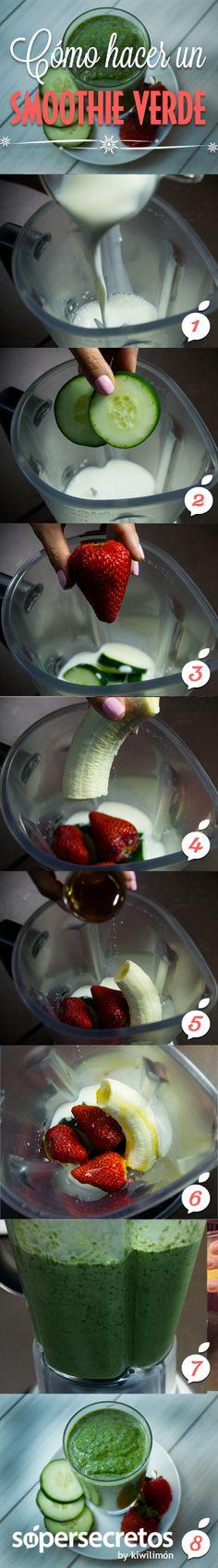 Cómo hacer un smoothie verde personalizado.