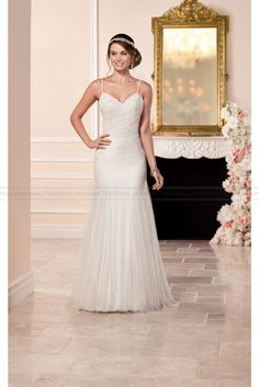 Stella York Sheath Wedding Dress With Low Back Style 6308