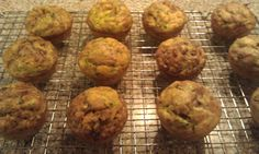 Loved these, I used almond flour and protein powder and added chocolate chips. Coconut Flour Zucchini Muffins