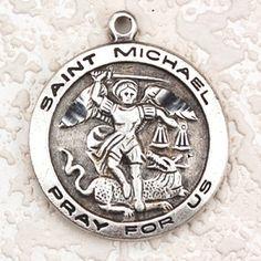 """Antique Sil St Michael 18Ch&"""""""
