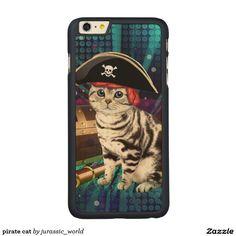 pirate cat carved® maple iPhone 6 plus slim case
