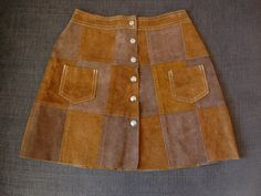 Vintage 60s 70s Patchwork Suede Leather by AdventurousVintage, $45.00