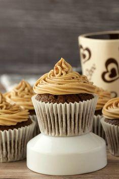 Vegan Coffee Cupcakes with Coffee Buttercream Frosting. Deliciously rich and moist! #vegan #lovingitvegan #coffeecupcakes #dessert