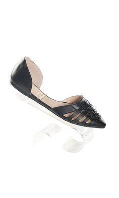 Women's Casual Woven Leather Black Slip On Flat Sandal >>> You can get more details by clicking on the image.