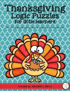 5 single grid Thanksgiving themed logic puzzles for beginners