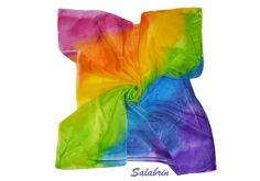 Seidentuch Regenbogen. Seidenschal Schal in Crepe de Chine. Tuch als Dreiecktuch in Seidenmalerei , Waldorf, Chakrentuch http://de.dawanda.com/product/95127603-seidentuch-regenbogen - ein Designerstück von Salabrin bei DaWanda