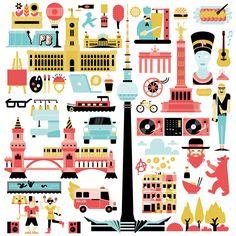 Cute illustration of #Berlin