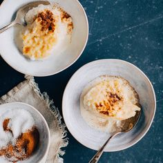 Riisipuuro uunissa | Maku Goodies, Eggs, Breakfast, Ethnic Recipes, Food, Christmas, Sweet Like Candy, Morning Coffee, Xmas