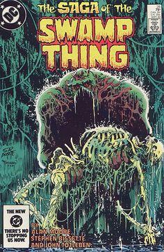 The Saga Of The Swamp Thing N°28 (September 1984) - Cover by Stephen Bissette and John Totleben