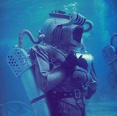 "My ""How Disney Makes an Undersea Movie"" - Leagues Under The Sea, Life Magazine Nautilus Submarine, Lloyd Bridges, Movie 20, Deep Sea Diver, Diving Helmet, Leagues Under The Sea, Sci Fi Films, Kirk Douglas, Above The Clouds"