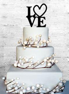 Love 4 Wedding Cake topper Monogram cake topper by CoralMintDesign, $13.00