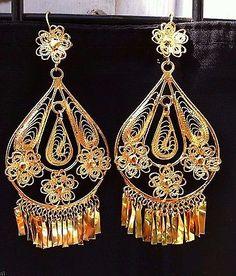 362844748731 Mexican Filigree Earrings Handmade from Oaxaca Style MG7912.Aretes de  Filigrana.