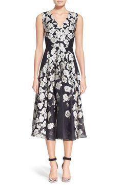 Lela Rose Floral FilCoupéMidi Dress available at #Nordstrom