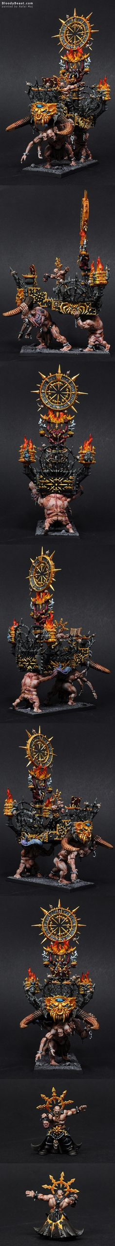 The Internet's largest gallery of painted miniatures, with a large repository of how-to articles on miniature painting Figurine Warhammer, Warhammer 40k Miniatures, Warhammer Paint, Warhammer Fantasy, Minis, Sci Fi Miniatures, Chaos Lord, Fantasy Model, Fantasy Battle