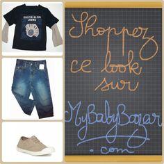 Votre petit homme aura un look branché-décontracté en Calvin Klein Jeans et Bensimon aux pieds!  En vente sur www.mybabybazar.com