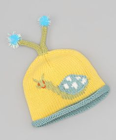 For keeping a little escargot toasty in the shell on a cold and windy day. Made entirely of mercerized cotton—an enhanced, hardier yarn—this beanie keeps a little ones' head warm and cozy in playful style.