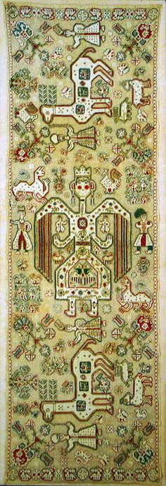 Gold-embroidered bridal cushion from Lefkada, 17th-18th centuries?  Benaki Museum