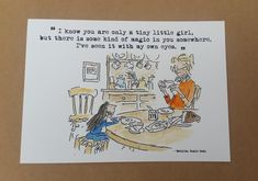 Hand Painted Matilda Quote and Watercolour Painting Roald Dahl Quentin Blake Miss Honey Dining Best Quotes From Books, Feel Good Quotes, Quotes For Kids, Book Quotes, Roald Dahl Quotes, Roald Dahl Books, Literary Quotes, Watercolor And Ink, Watercolour Painting