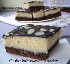 przepis na pyszne biało czarne ciasto z masą kokosową