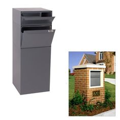 dVault DVCS0015 Full Service Curbside Vault Mailbox with Locking Letterbox - Outdoor Living Showroom