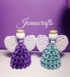Quilling Angel Ornament choose your color by joanscrafts on Etsy