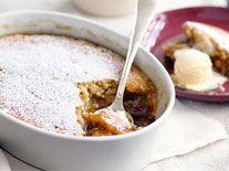 Banana butterscotch self-saucing pudding