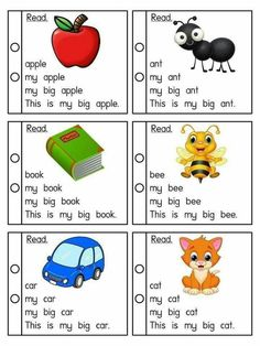 Building sentences and fluency practice First Grade Reading Comprehension, Phonics Reading, Reading Comprehension Worksheets, Kids Reading, Teaching Reading, Beginning Reading, Preschool Learning Activities, Reading Activities, Preschool Worksheets