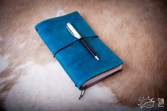 Midori Traveler's Notebook 'Summer Sky' FREE Personalized Leather Journal- Planner Cover - FauxDori