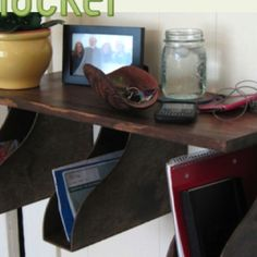 Charging/mail station DIY http://lifehacker.com/5882064/build-a-mail-rack-or-charging-station-from-ikea-magazine-holders