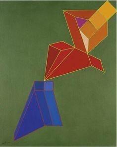 Achille Perilli (Italian, b. 1927), La punta spazio, 2004. Mixed media on canvas, 81.00 x 65.00 cm