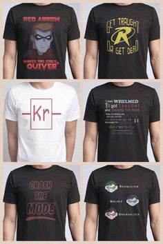 Young Justice t-shirts - Oh, gosh, I want them all!