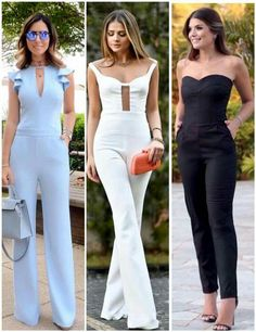 Enterizo Queen Fashion, Love Fashion, Womens Fashion, Classy Outfits, Stylish Outfits, Jumpsuit Pattern, Jumpsuit Outfit, Jumpsuits For Women, Casual Looks