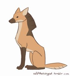 I love maned wolves! Cute Animal Drawings, Cute Drawings, Pretty Art, Cute Art, Maned Wolf, Furry Art, Furry Wolf, Cool Animations, Creature Design