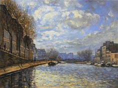 View of the Canal St. Martin by Alfred Sisley