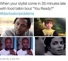 16 Reasons The #blacksalonproblems Hashtag Is So Real And So Funny [Gallery]  Read the article here - http://www.blackhairinformation.com/general-articles/playlists/16-reasons-blacksalonproblems-hashtag-real-funny-gallery/