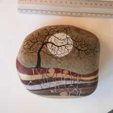 painted stones « Sam Cannon Art