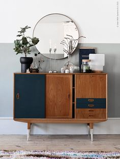 Vintage #Ikea sideboard styled with current favourites from the #Sinnerlig collection.