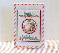 Christmas card made for Pyssloteket with supplies from Prima Marketing/DT Ullis aka LillBlomman