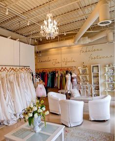 Ooo! I could just imagine choosing the bridal gown of my dreams in this boutique...