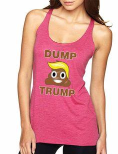 Dump Trump 2016 elections emoji emoticon Women Triblend Tanktop election anti…