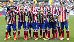 Malaga vs Atleti // Once inicial // 2-2